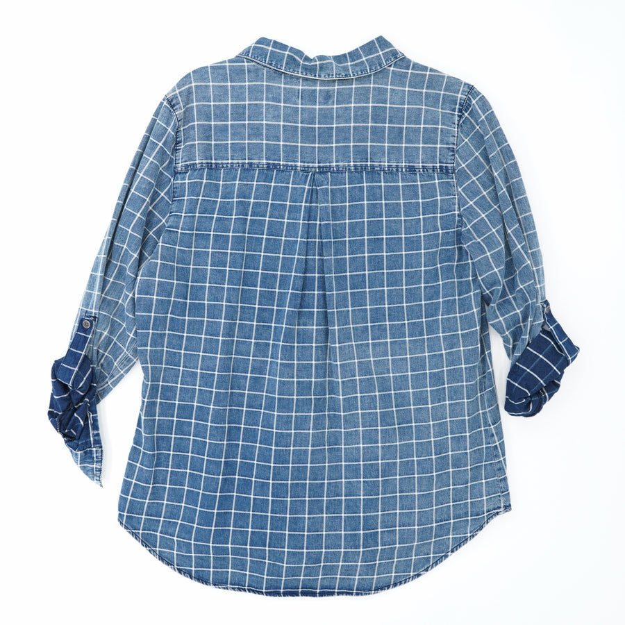 Floid Chambray Top - Size L