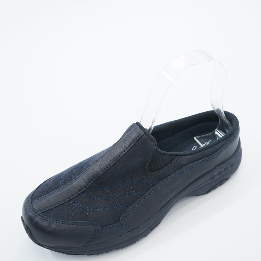 Black & Navy Thread Traveltime Clogs - Size 7