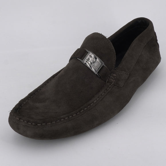 Buckle Suede Moc Loafers Size 10