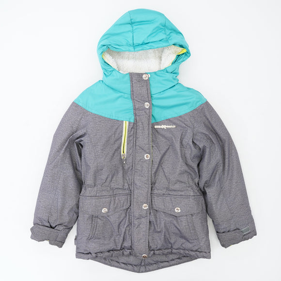 Gray and Teal Snowboard Coat Size 7/8