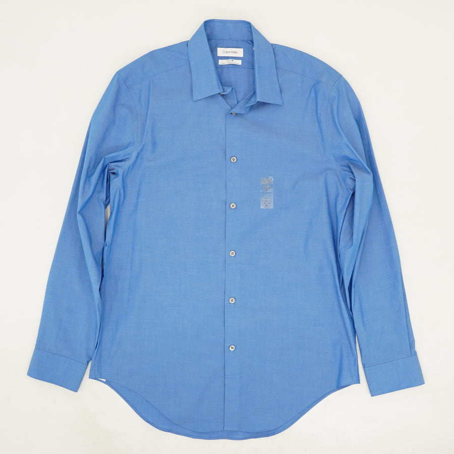 Blue Slim Fit Stretch Dress Shirt - Size M