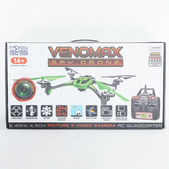 2.4Ghz Venomax Spy Drone with Video Camera 4.5 Channel RC Quadcopter