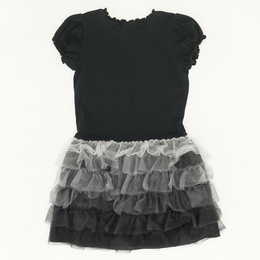 Black Tiered Tulle Dress - Size 10