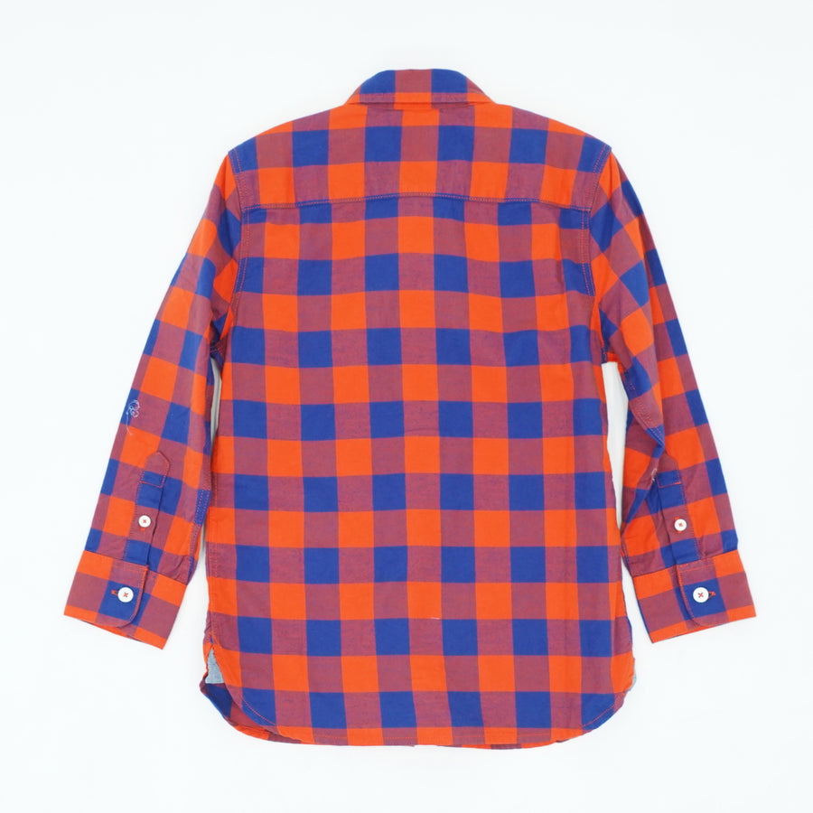 Checked Button Up Shirt Size 5/6T