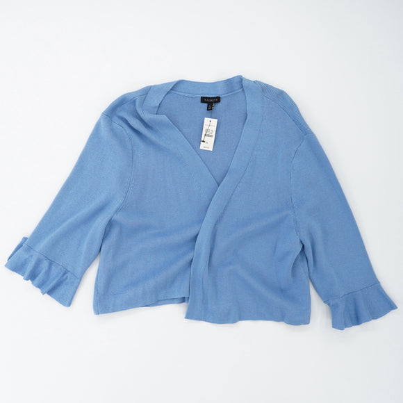 Cropped Cardigan Ruffle Sleeve Size XL