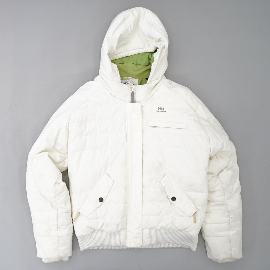White Insulated Ski Coat Size L