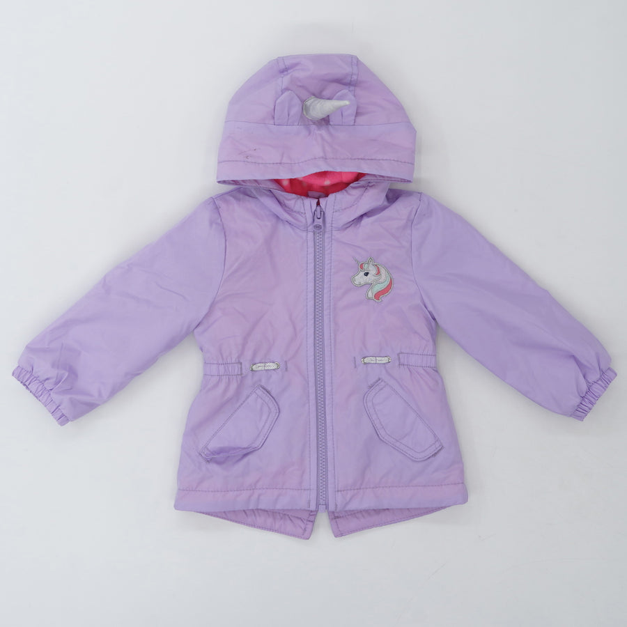 Unicorn Fleece-Lined Water Resistant Jacket - Size 12M