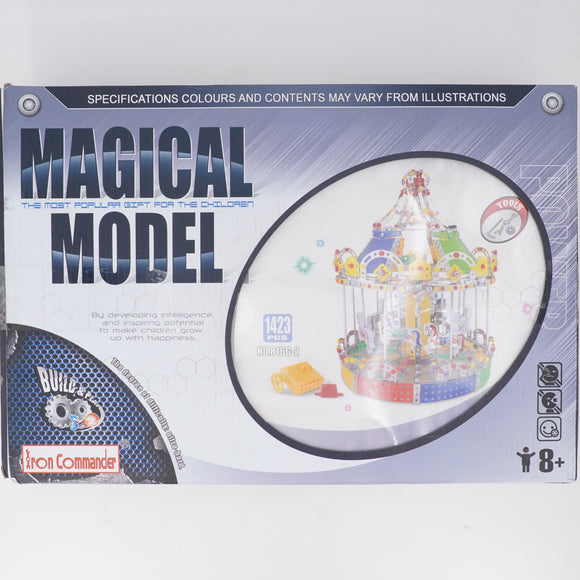 Magical Model 3D Assembly Metal  Kits Toy Carousel Merry Go Round With Music