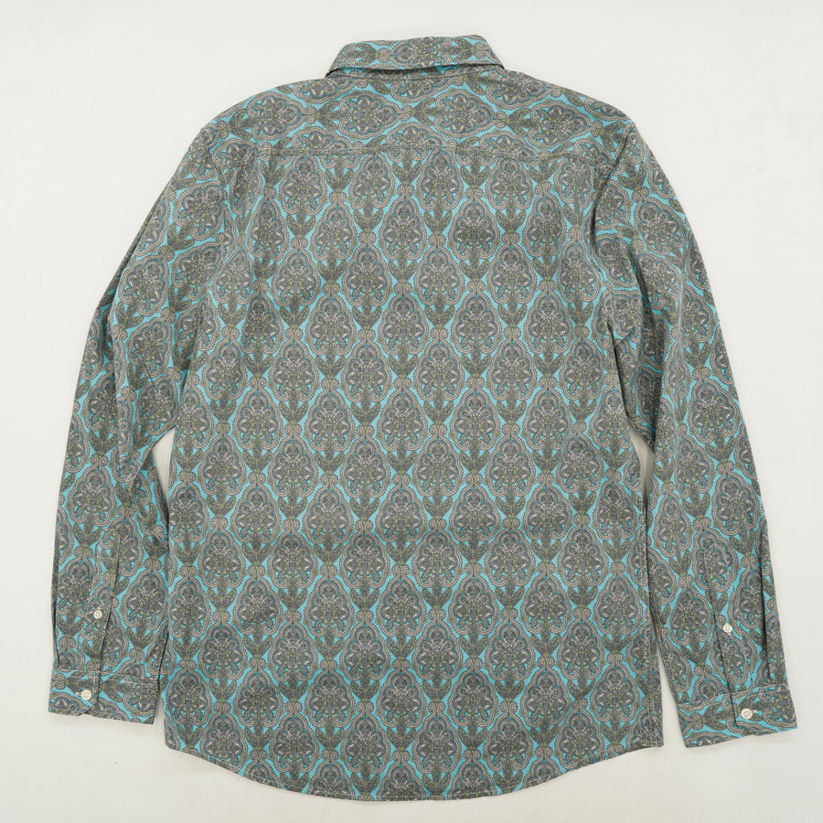Salcombe Paisley Long-Sleeve Button-Down Shirt Size M
