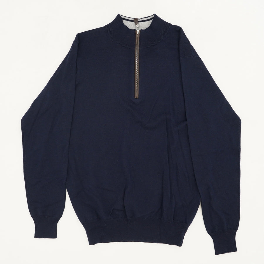 Mock Neck 1/4 Zip Sweater Size S