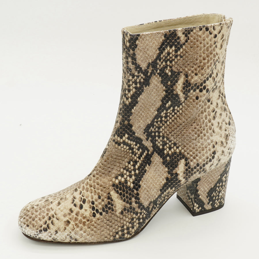 Taupe Snake Print Cecile Boots