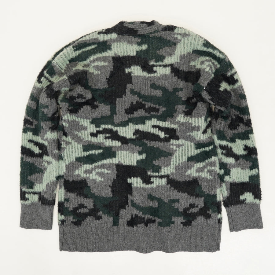 Camouflage Button Down Cardigan - Size S