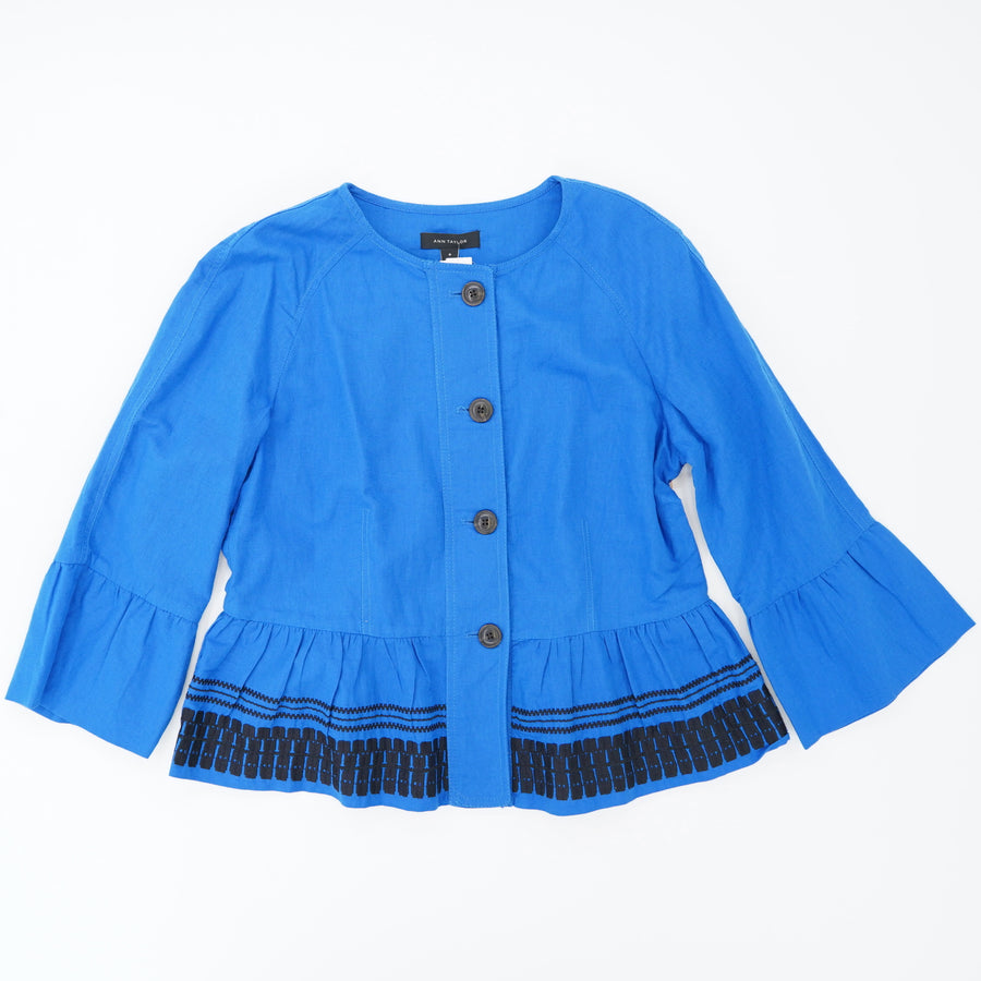 Embroidered Flounce Jacket - Size M