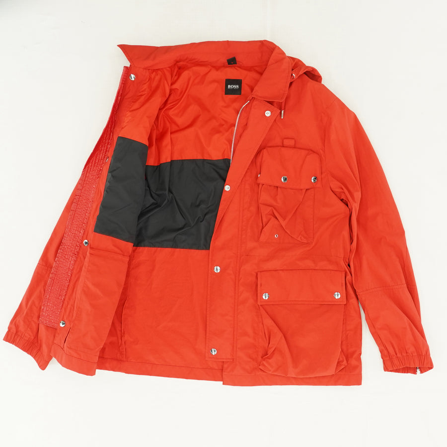 Water Repellent Hooded Jacket Size 42R