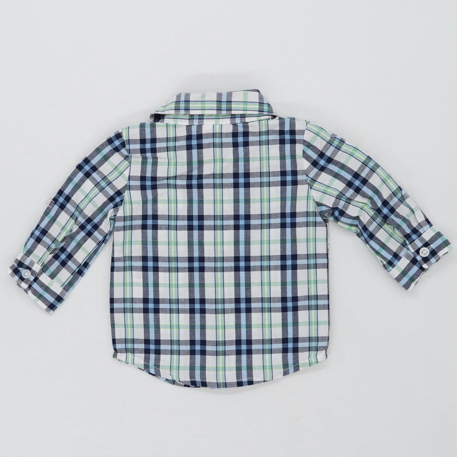 Plaid Button Down Shirt Size 0-3M