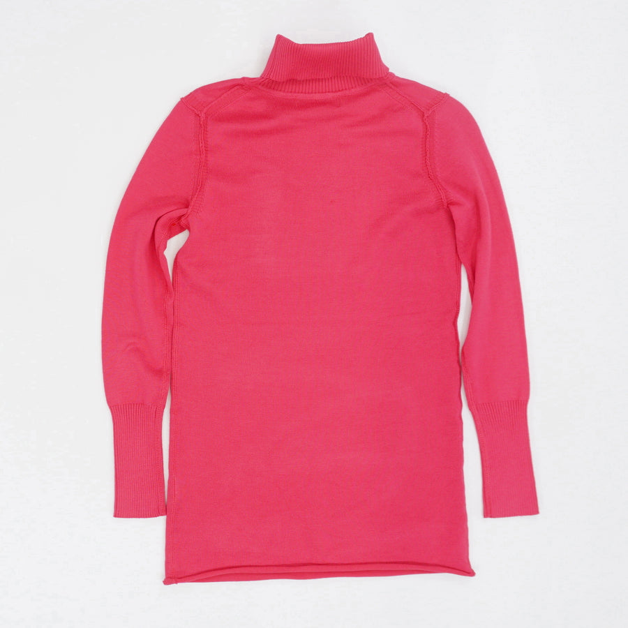 Seam Detail Turtleneck Sweater Size S