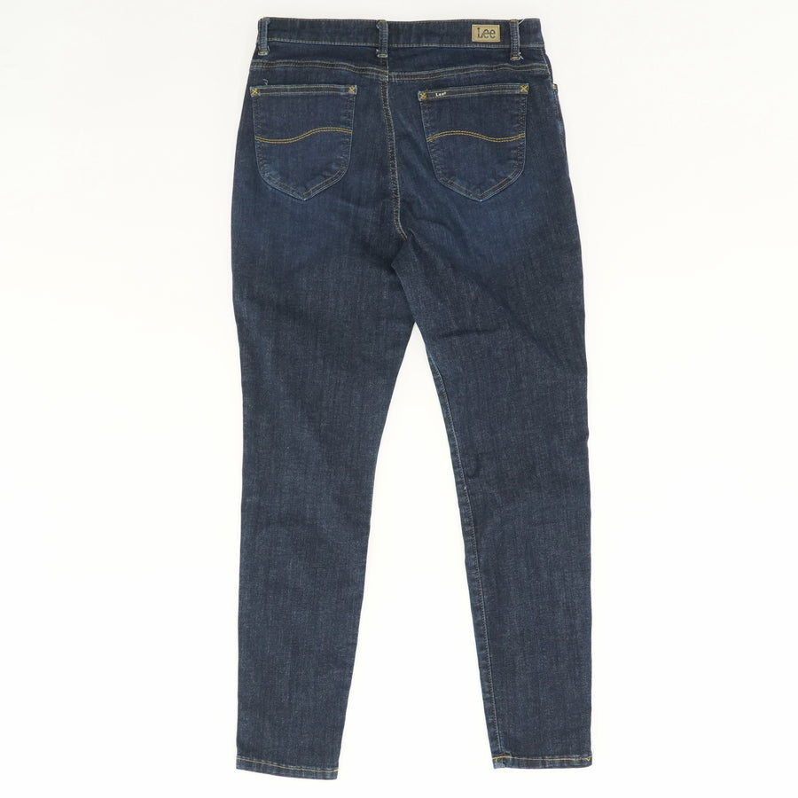 Slim Fit Skinny Leg Mid Rise Jeans - Size 10