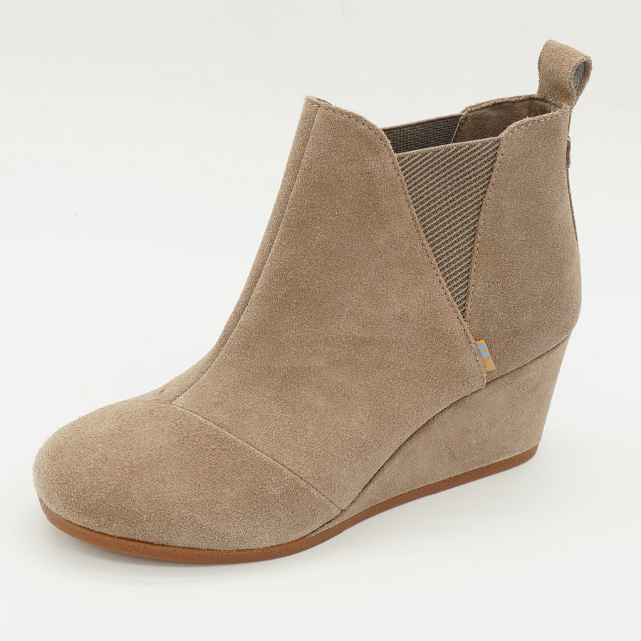 Kelsey Suede Wedge Booties