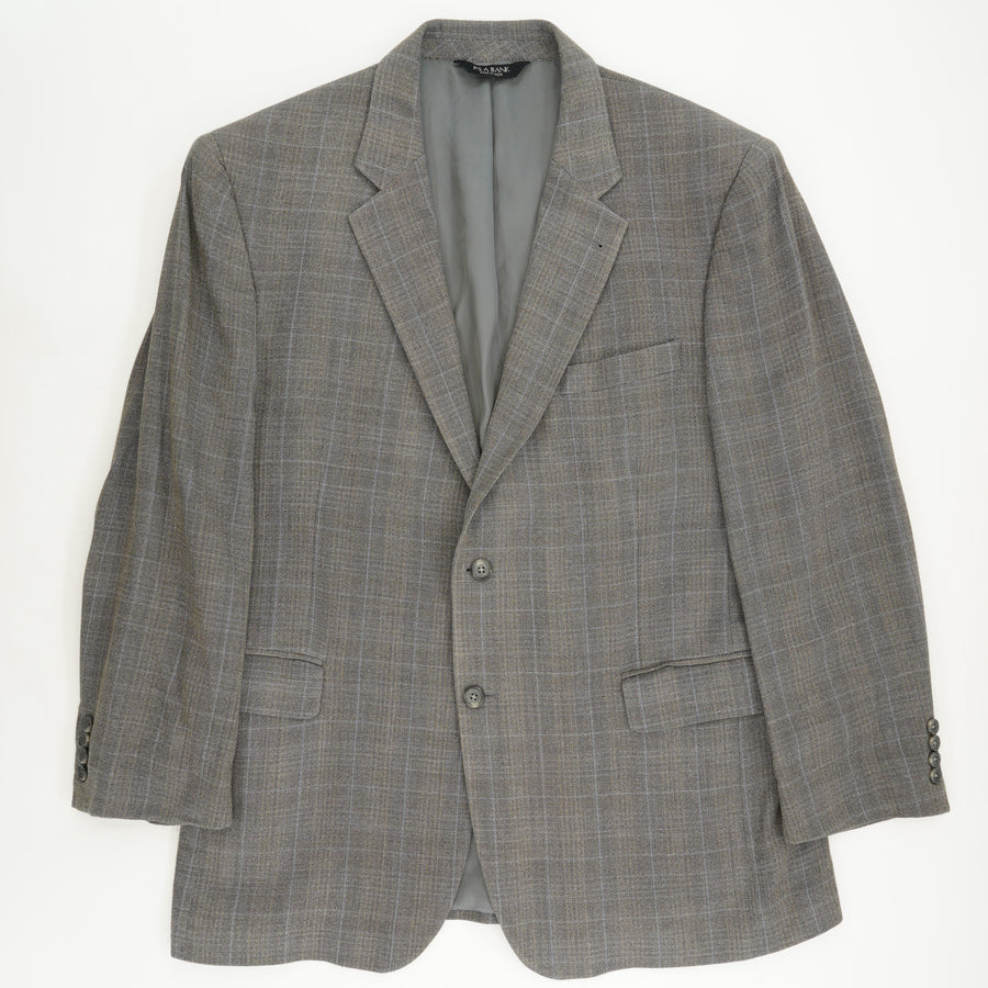 Plaid Silk/Wool Signature Collection Sport Coat Size 44R