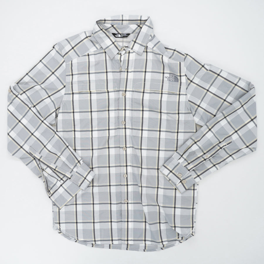Long Sleeve Traverse Plaid Button Down Size S