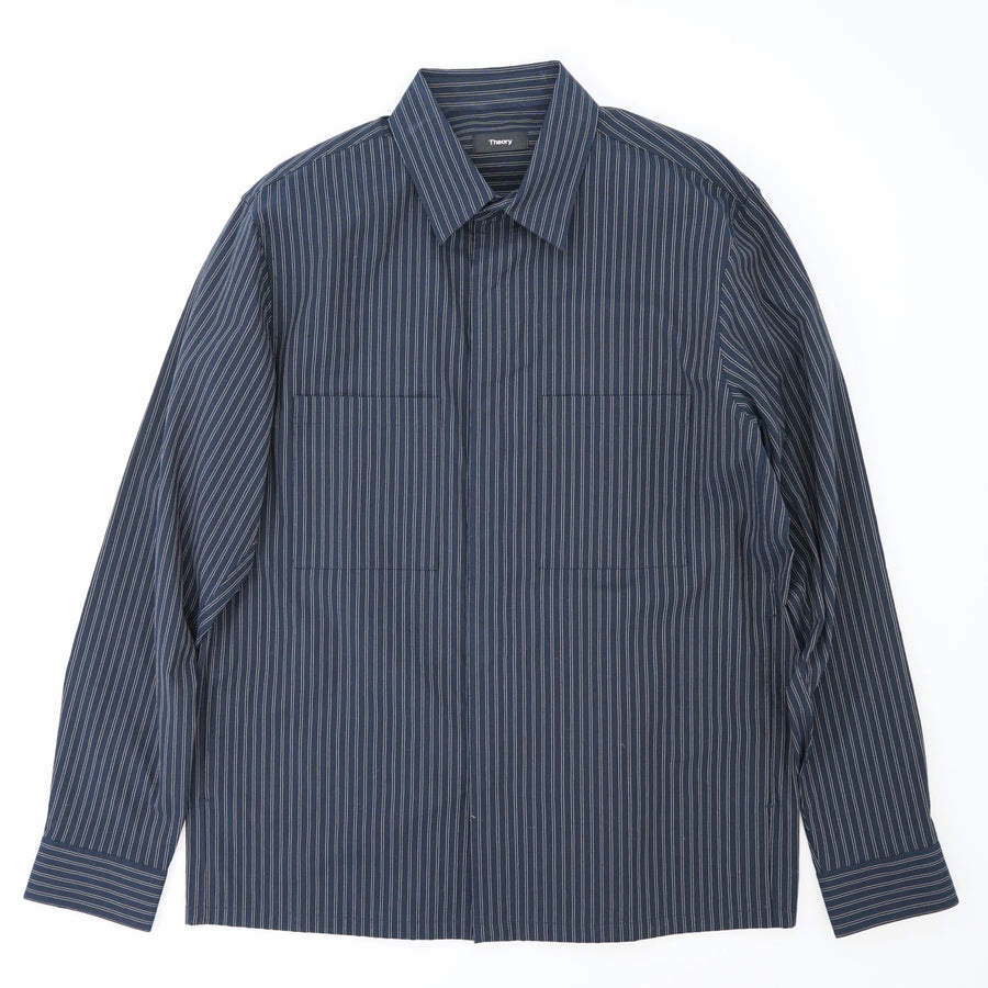 Kian Kamino Stripe Shirt Jacket in Eclipse Size L