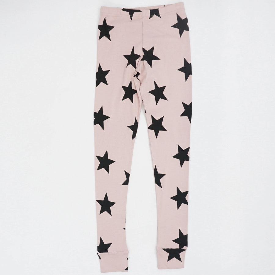 Powder Pink Star Leggings - Size 10-11