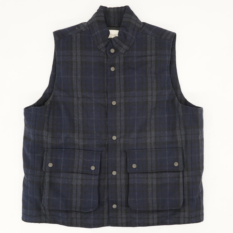 Plaid Button Up Puffer Vest Size XL
