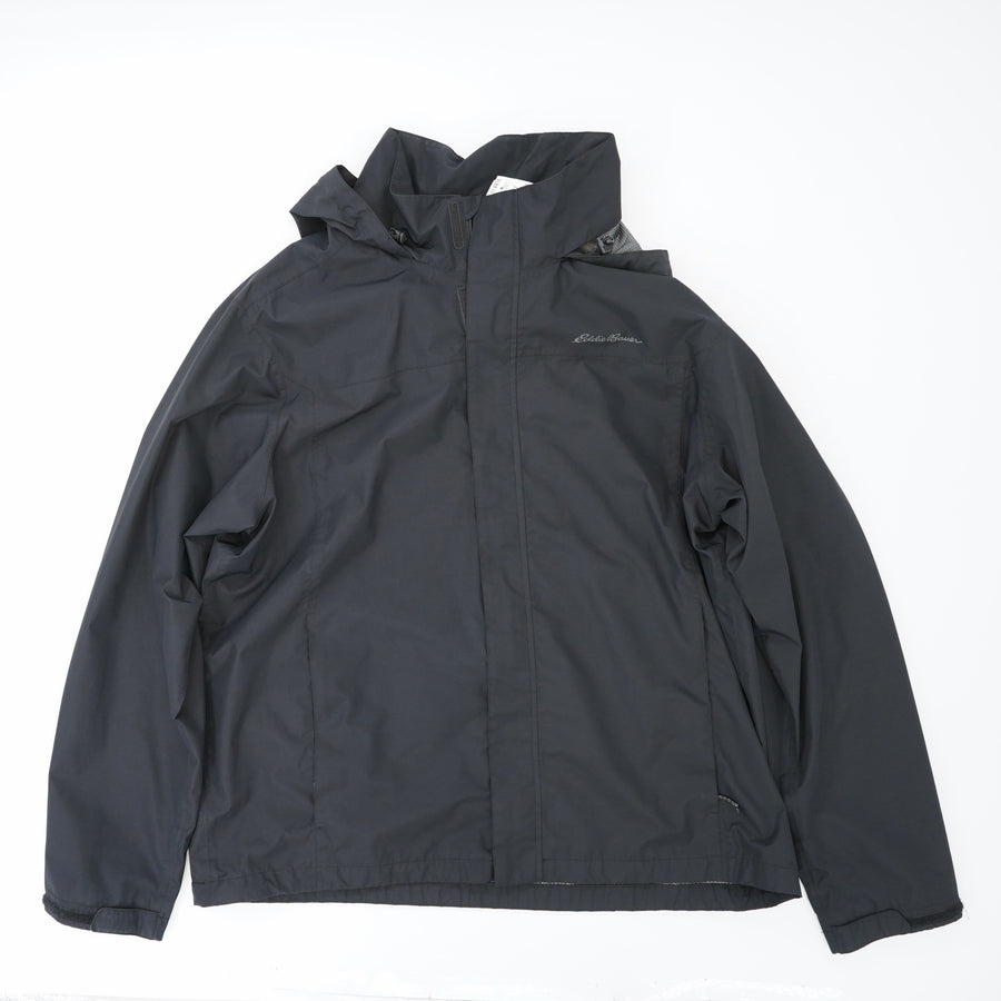 Hooded Rain Jacket with Velcro Zip and Mesh Lining Size XL