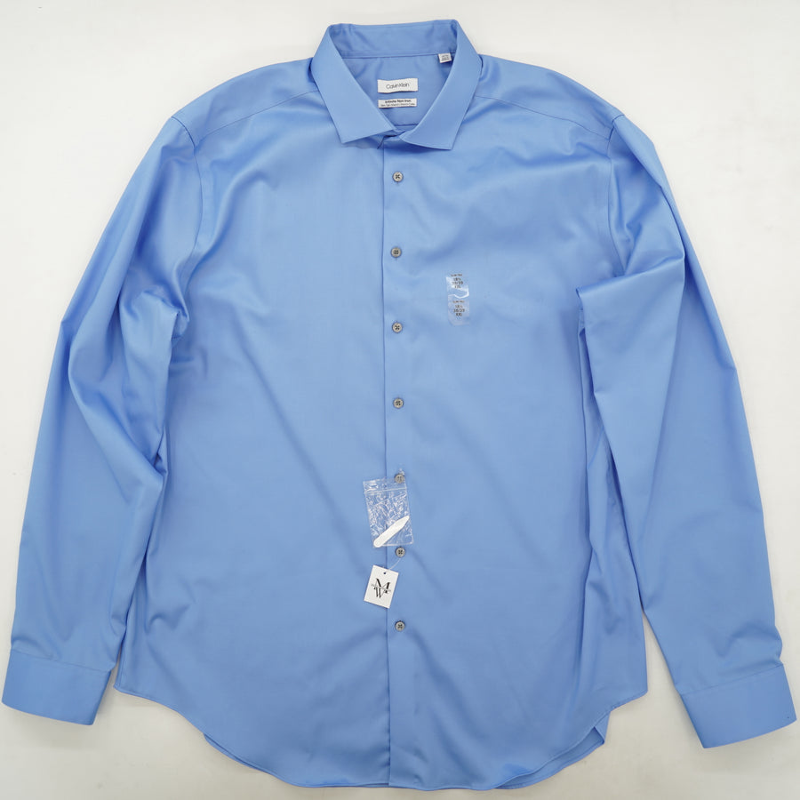 Infinite Non-Iron Stretch-Collar Long-SLeeve Button-Down Size 18 1/2
