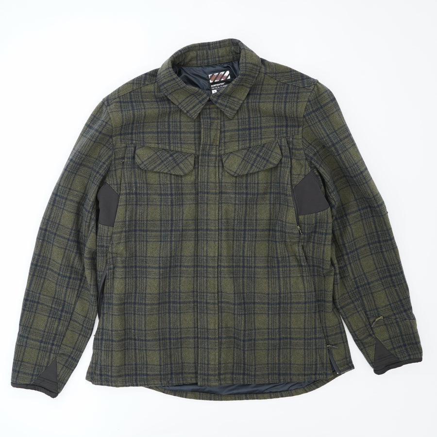 Green Tactical Flannel Jacket Size M