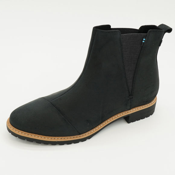 Cleo Water Resistant Black Leather Booties