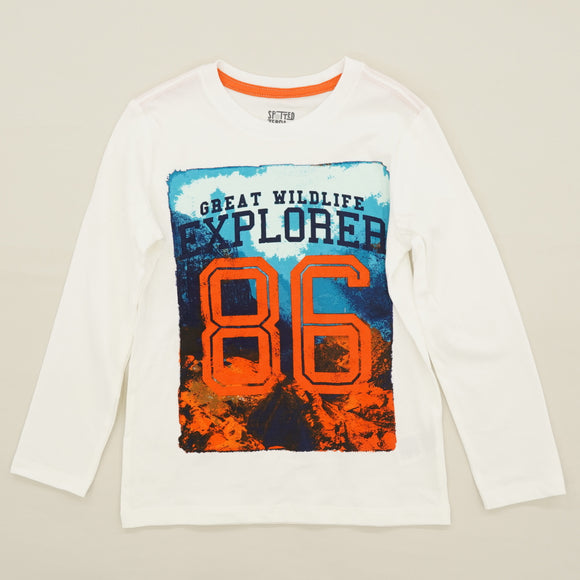 """Great Wildlife Explorer 86"" Graphic Long Sleeve Tee Size 4/5"