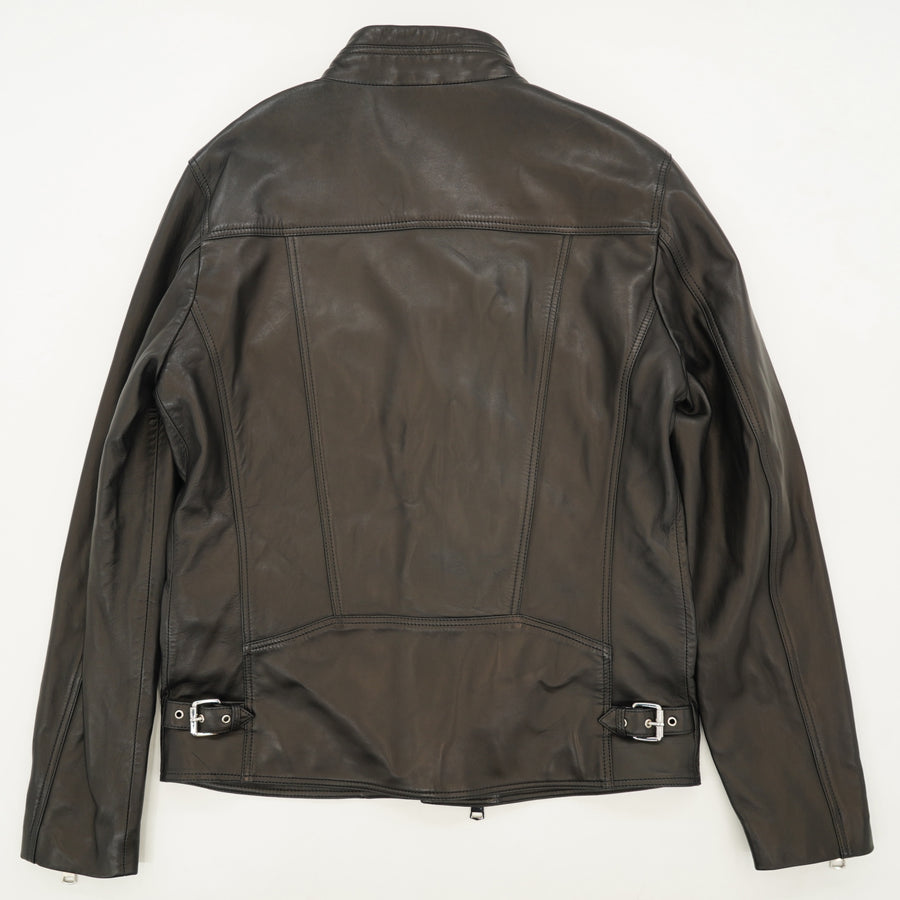 Rod Leather Biker Jacket Size L