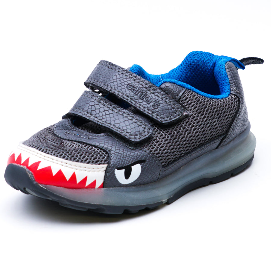 Shark Light-Up Sneakers Gray Size 9T