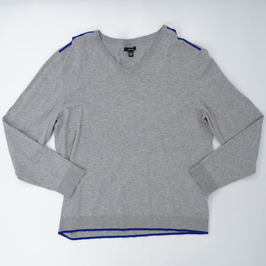 Gray V-Neck Sweater Size XL
