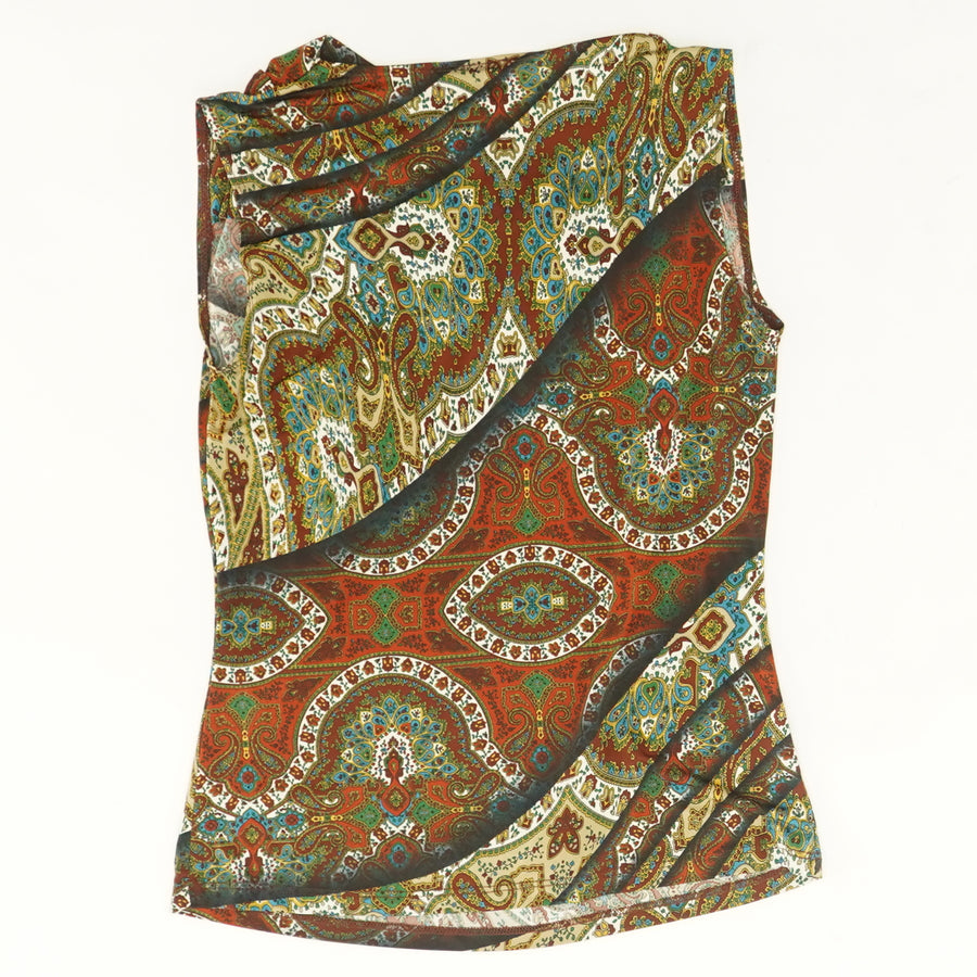 Sleeveless Print Top - Size M