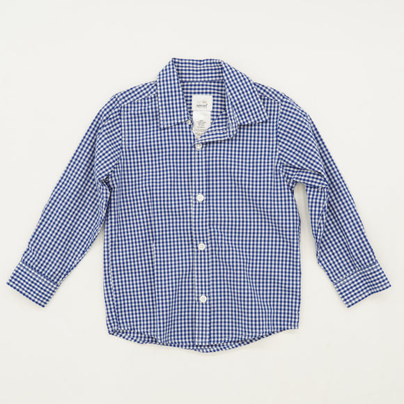 Gingham Button Down Shirt Size 4T