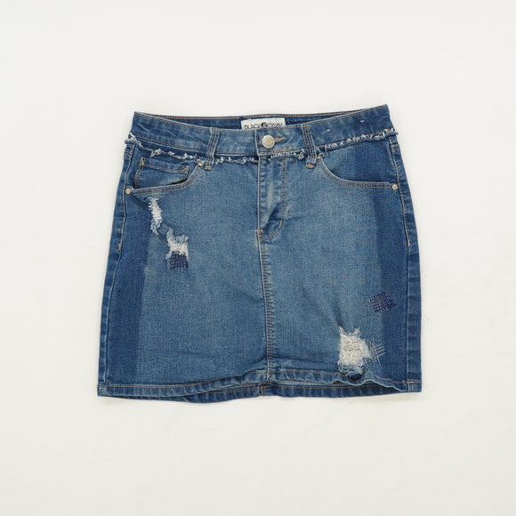 Distressed Denim Skirt Size 12