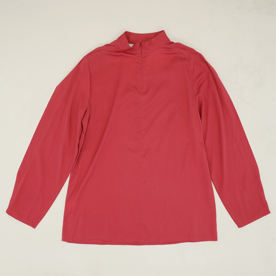 Cut Out Front Long Sleeve Blouse Size S