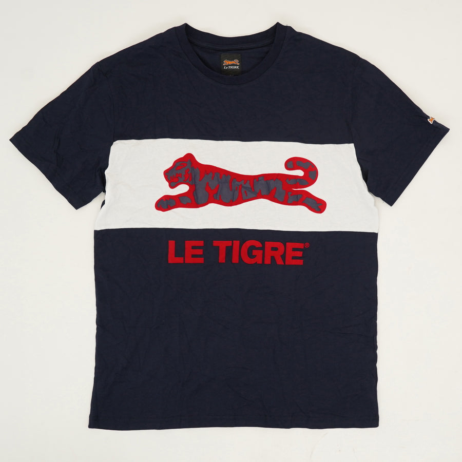 Tiger Print Spellout T-Shirt - Size L
