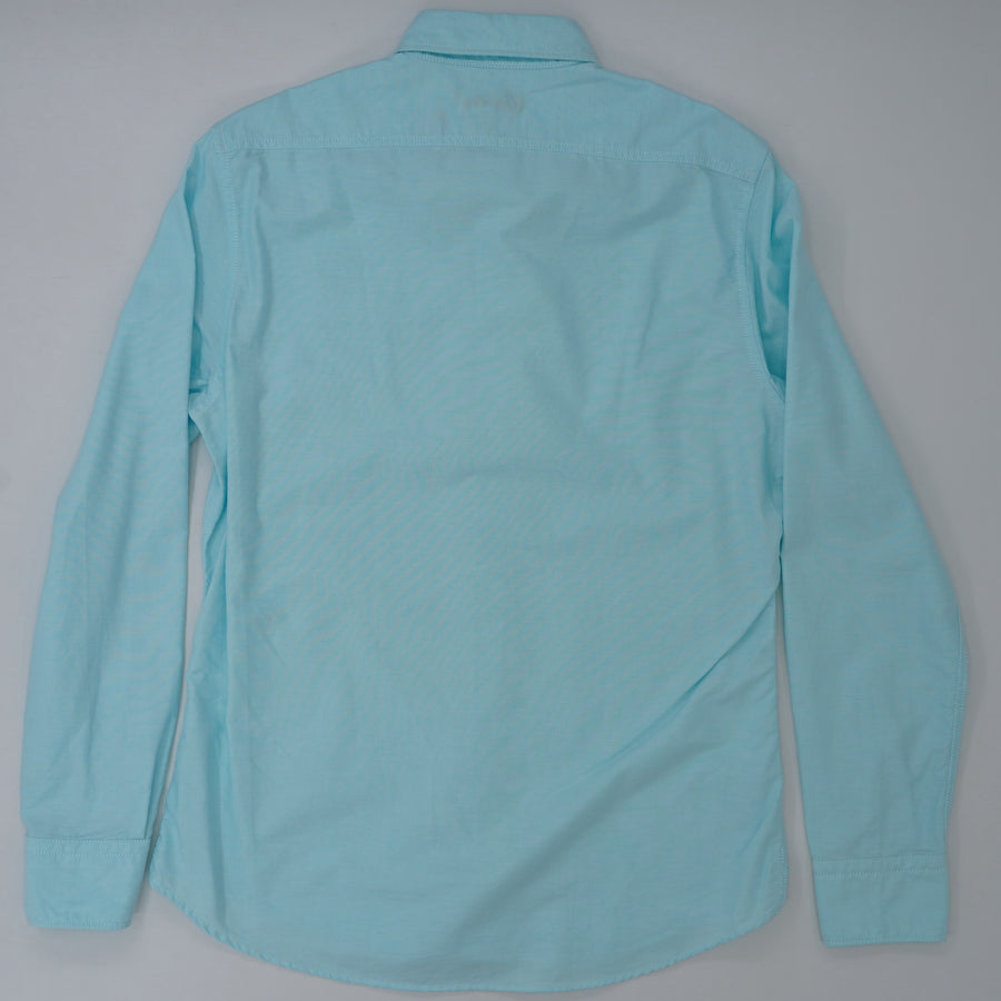 Aqua Blue Button Down Shirt