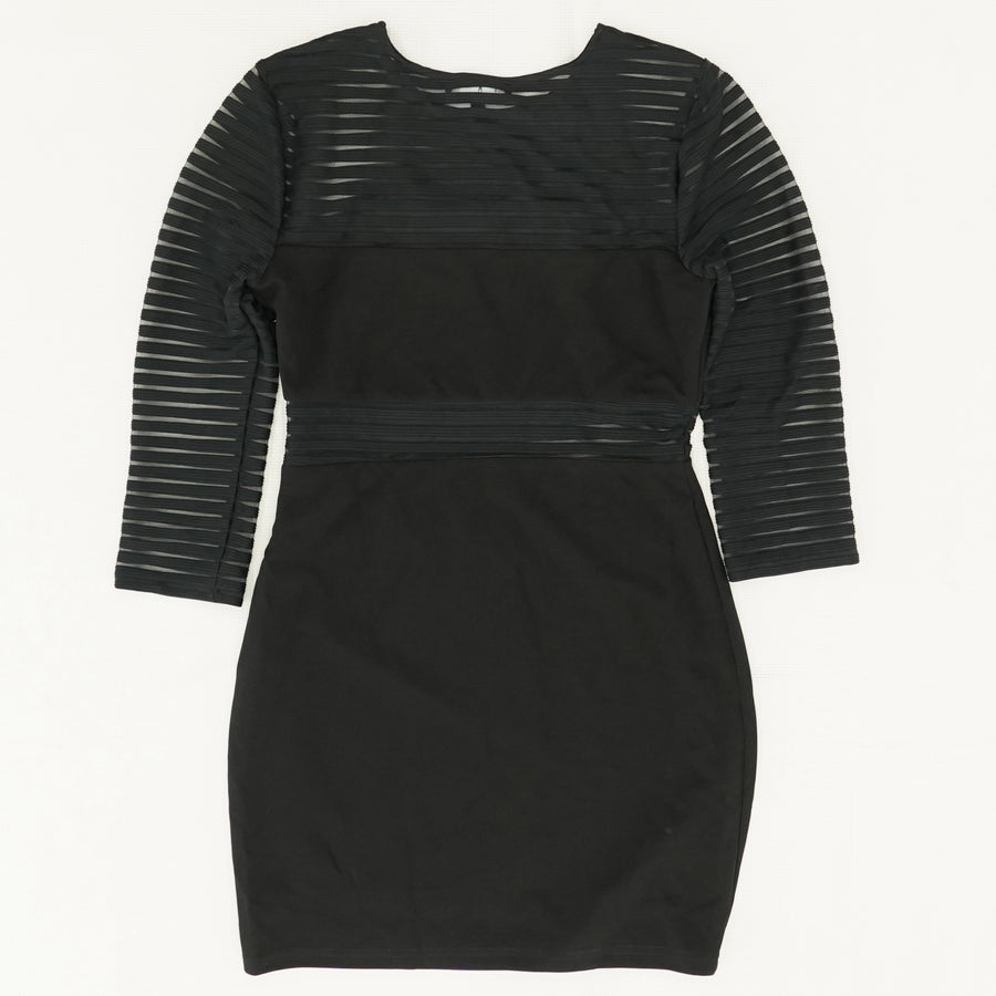 Perfect Mesh Black Bodycon Dress Size M
