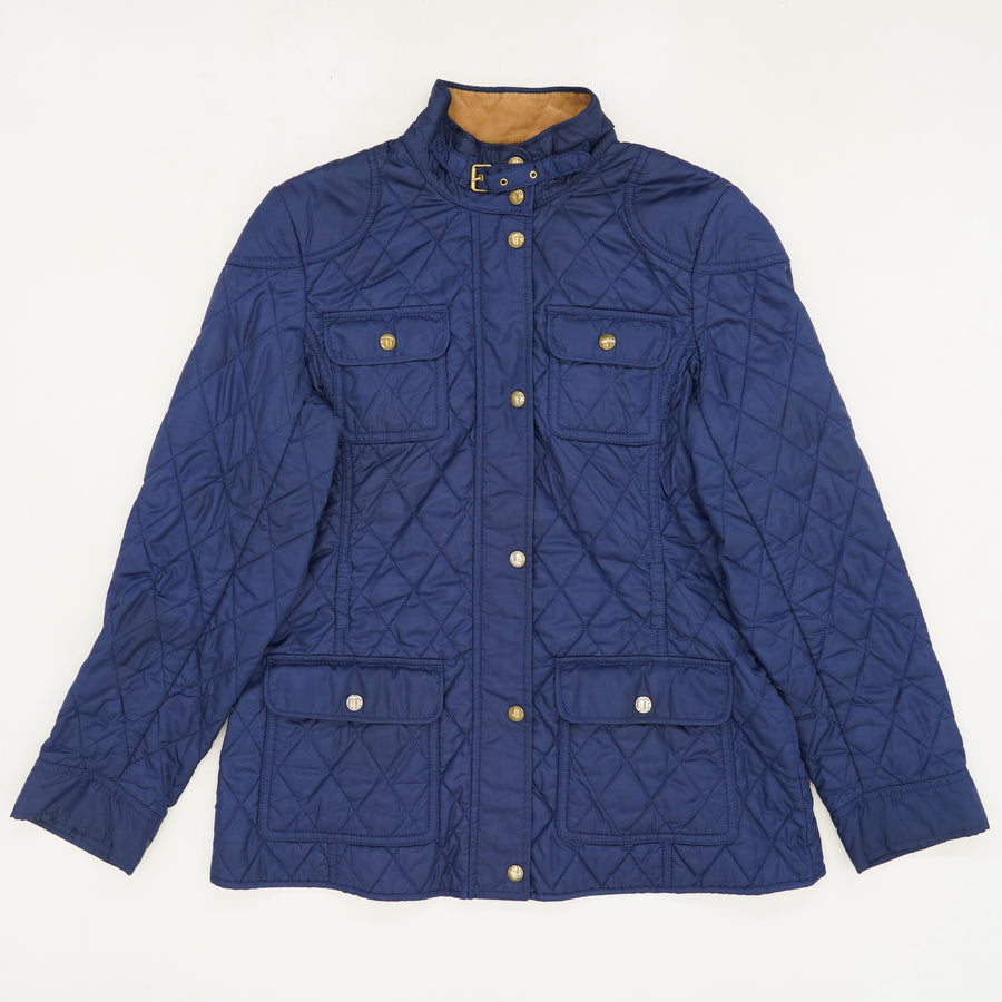 Navy Quilted Field Jacket Size L