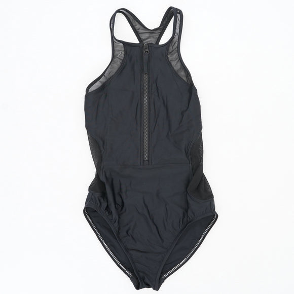 Front Zip Mesh Swimsuit Size S