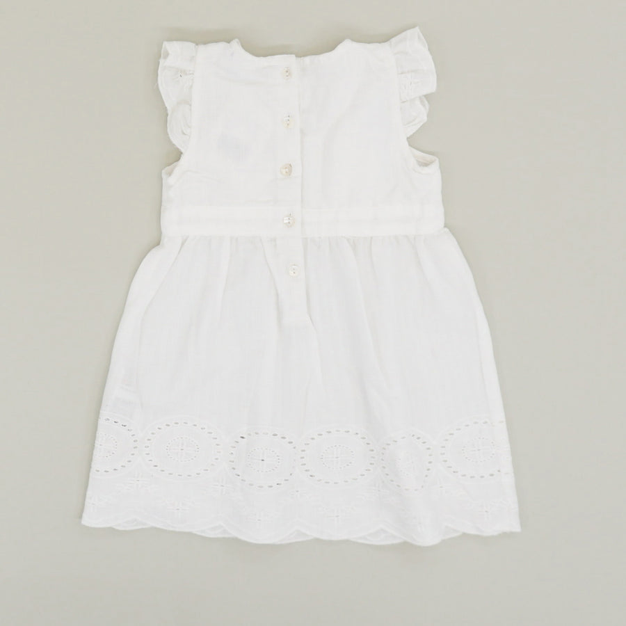 Pleated Ruffle Sleeve Dress - Size 9-12M
