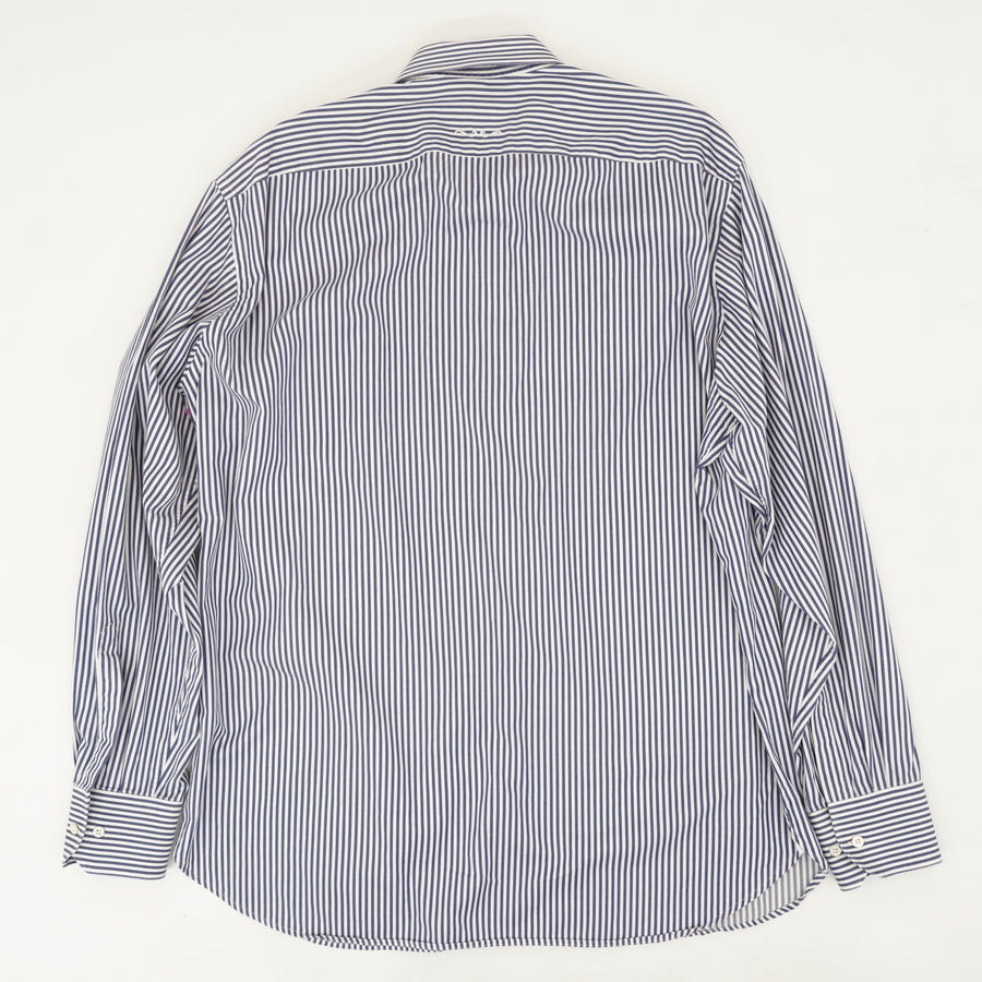 Blue Vertical Striped Button Down Shirt Size M/L