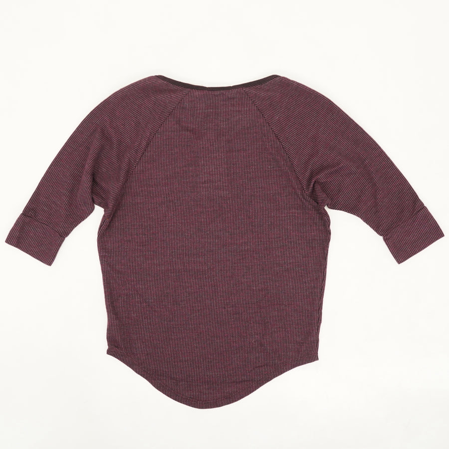 Eco Overtime Henley Top -  Size XS