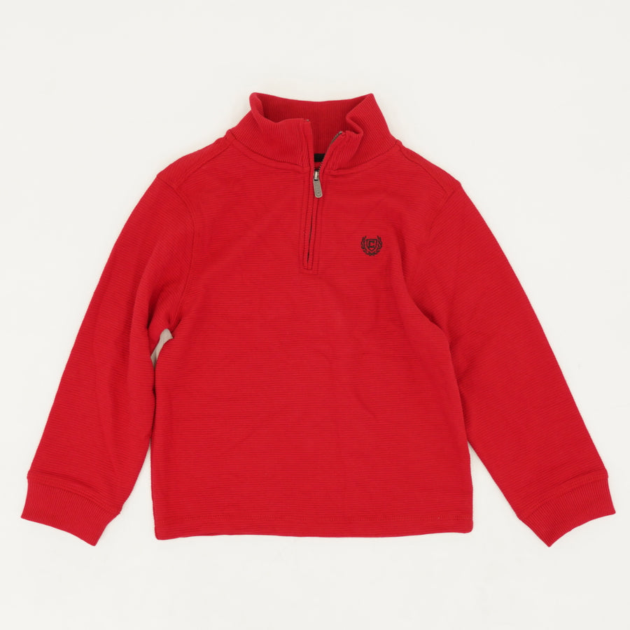 Chaps Red Quarter Zip Pullover - Size 5