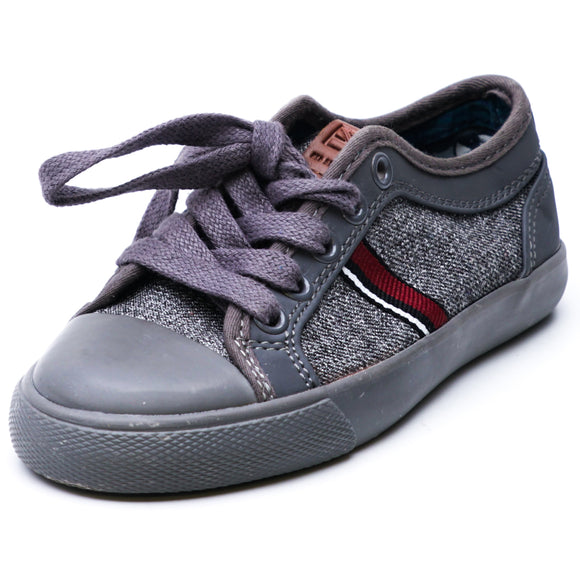 Gray Striped Sneakers Size 12T