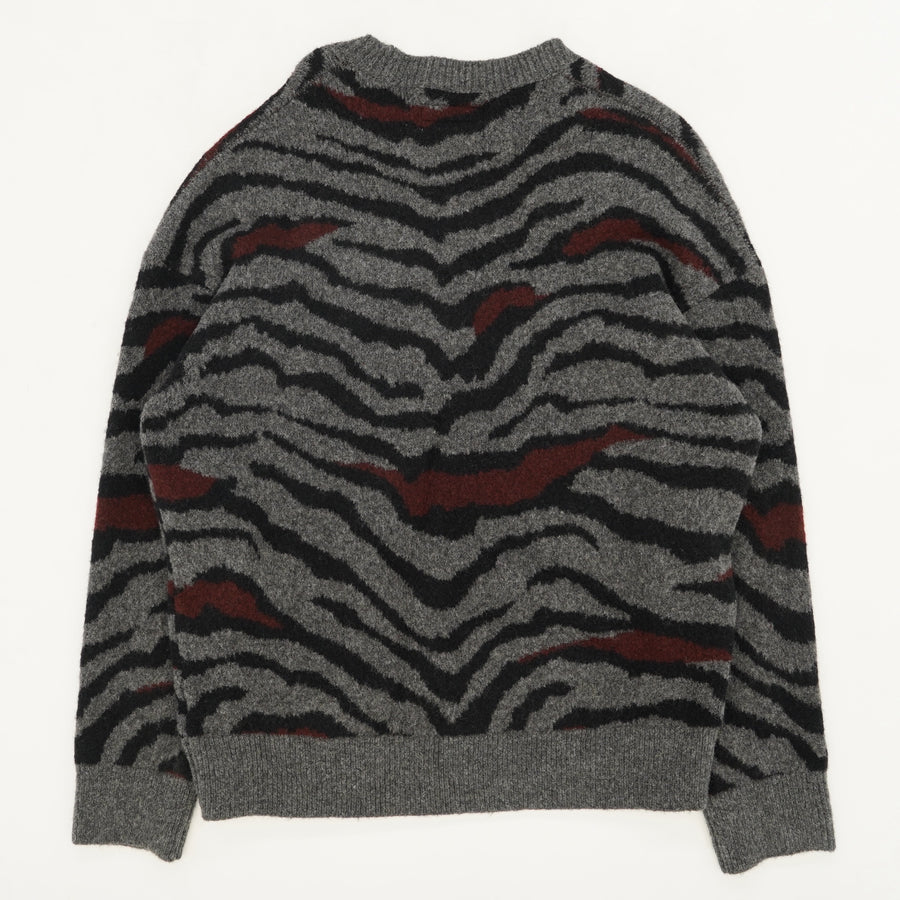 Zebra Crew Neck Sweater - Size S-L